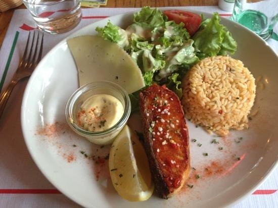 Restaurant du Moulin de Bassilour : Pavé de saumon