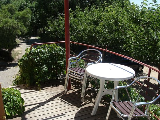 Camping Rifort: notre terrasse