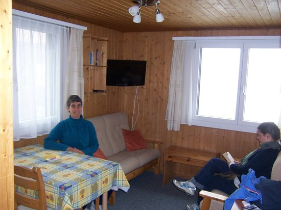 Chalet Bobs: Main living area.  No views due to low cloud!