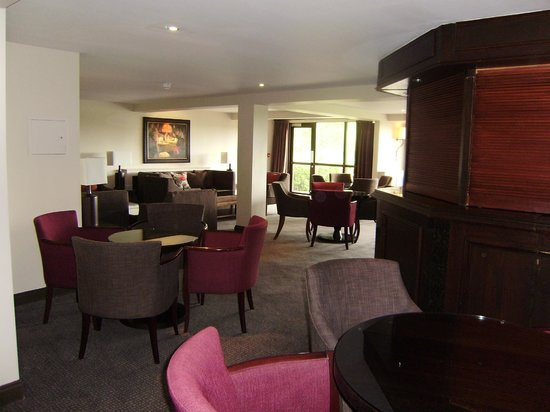 Barnham Broom: Hotel Lounge Area with one of the bar's.