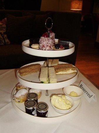 Barnham Broom: Afternoon Tea - Some of the sandwiches already eaten!!