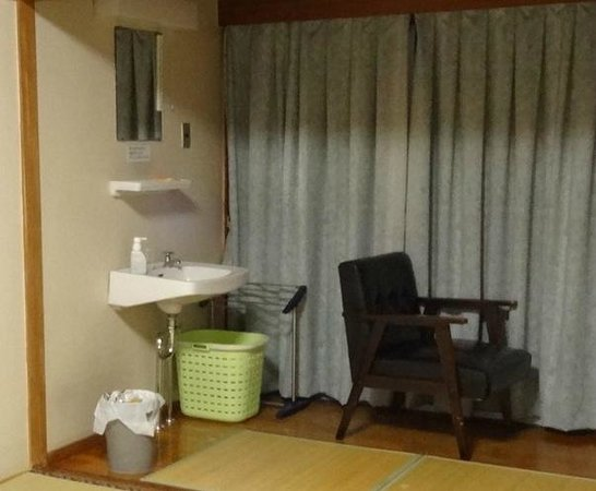 Nagasaki Catholic Center: Sink in a large tatami room