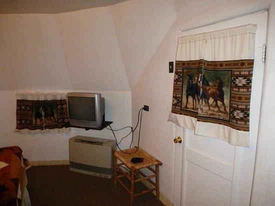 Wigwam Motel: Nett eingerichtet, aber alte Technik und Tür nicht verschließbar!