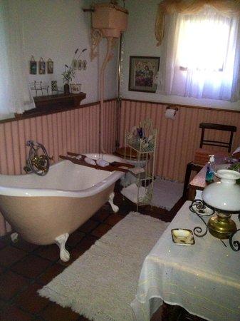 Die Gat Guest House: The Ox wagon en suite bathroom
