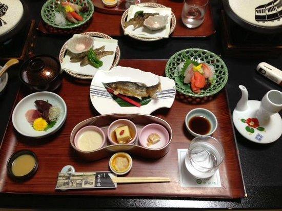 Suiranrou : kawa sakana on the table