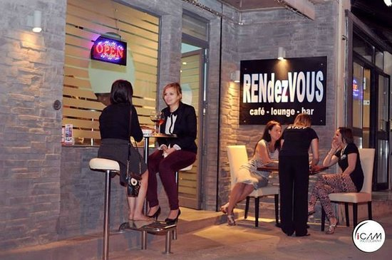 RENdezVOUS Cafe - Bar - Lounge: Outside of the bar