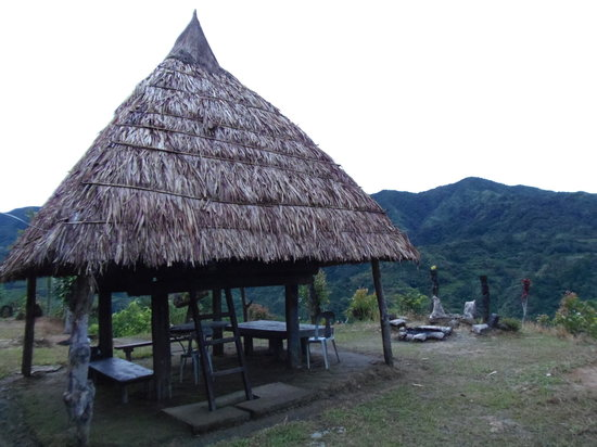 Hiwang Native House Inn : The accommodations are mostly genuine Ifugao huts that were bought elsewhere, disassembled and r