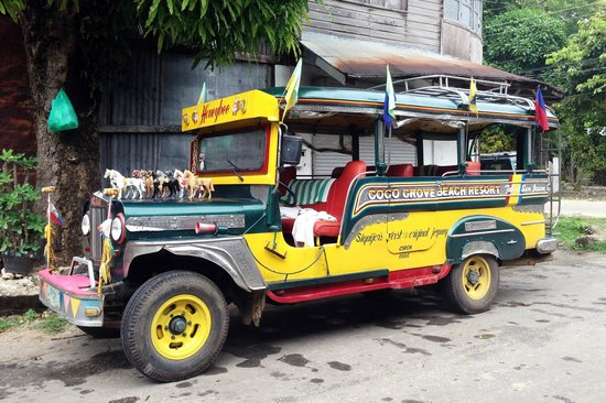 Coco Grove Beach Resort: Oldest Sarao Jeepney in Siquijor