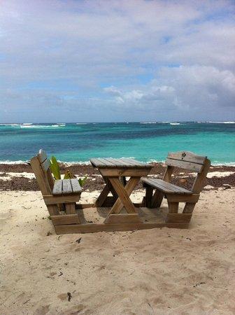 Desroches Island : One of the beach picnic areas