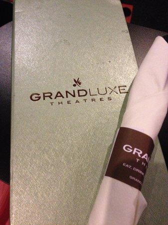 GrandLuxe Theatre: Menu