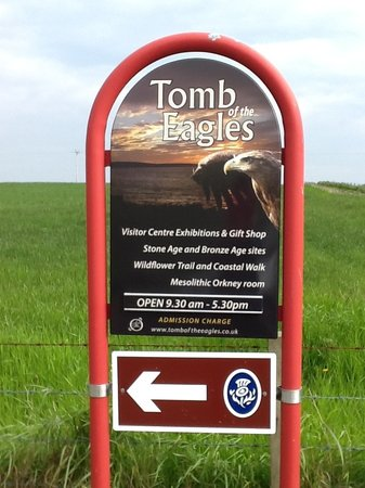 Tomb of the Eagles: Our new road sign