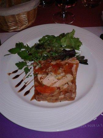 L'Enchotte: Terrine de gras -double au foie-gras de canard maison