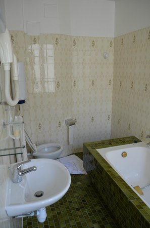 Hotel Nord et Champagne : Large washroom with bathtub