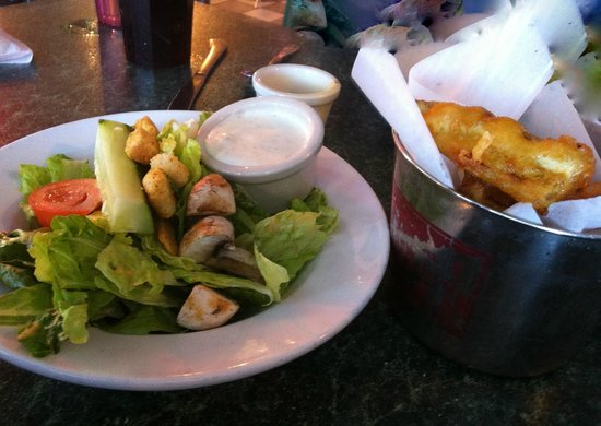 Thee Pitts Again: House Salad and Fried Pickles