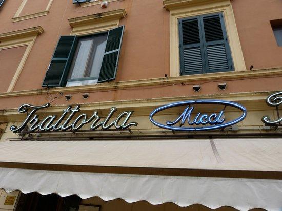 Trattoria Micci: Das Innere des Restaurants