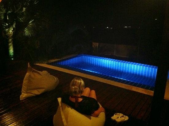 The Place Luxury Boutique Villas: chilling at night in Villa 3