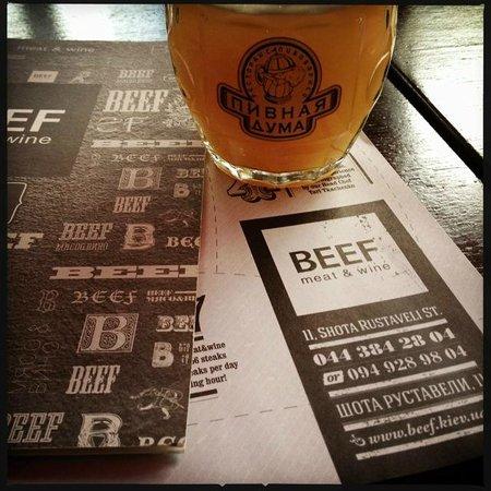 BEEF meat & wine: wheat beer