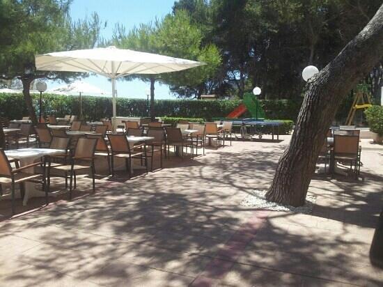 Universal Hotel Laguna: Terrasse