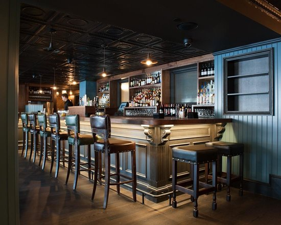 Trading Post: Main floor bar area.