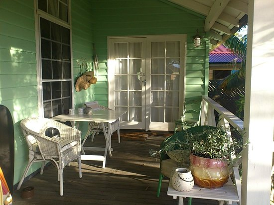 Huskisson Bed and Breakfast: Porch