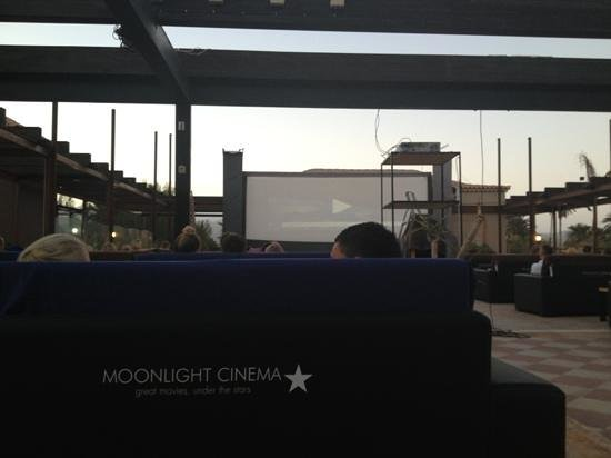 Moonlight Cinema : I think this accurately shows our obstructed view and the arrangements of the projector. This wa