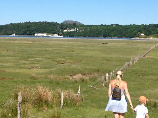 Estuary Cottage Bed and Breakfast: Our walk upto Portmeirion from Estuary cottage