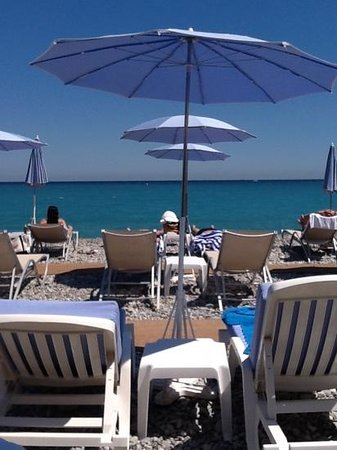 Regence Plage by Radisson Blu: View from our lunch table