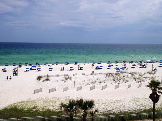 Hampton Inn Pensacola Beach: View from our room