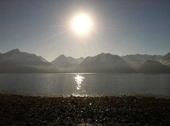 Angels Rest on Resurrection Bay, LLC : Sunrise from the cabin