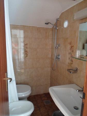 Hotel La Perla : The small bathroom