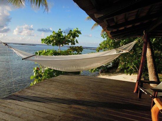 Vahine Island Resort: Vue de la terrasse