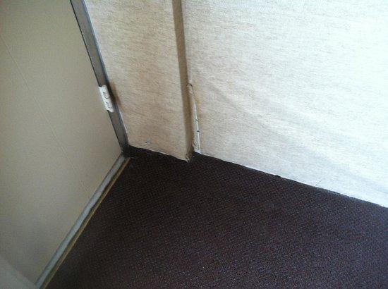 بلاك هورس لودج آند سويتس: Peeling wallcovering near balcony door