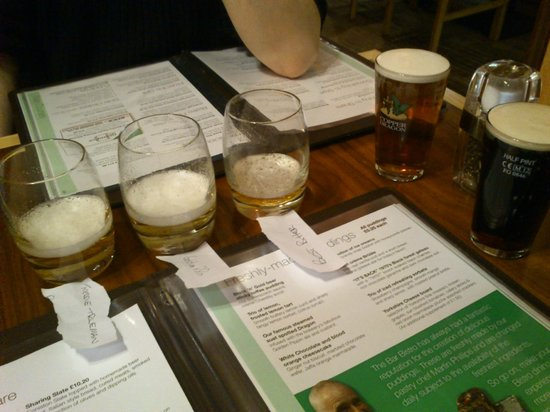 Copper Dragon Bar Bistro: the samples of the other beers