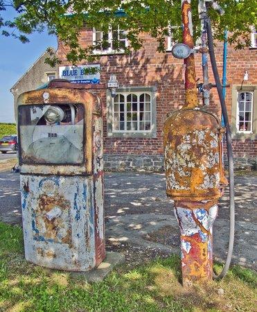 The Farm: Old Petrol Pumps at Brompton Crossroads