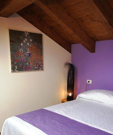 Bed and Breakfast Cascina delle Mele: La zona notte della Regina violetta