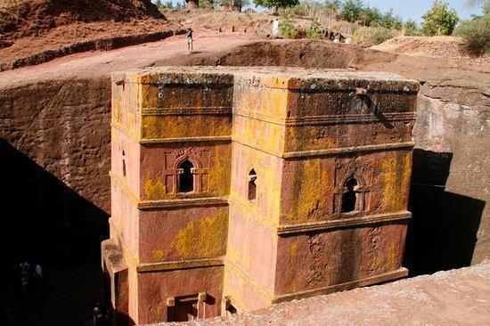 Felsenkirchen von Lalibela: Außenansicht