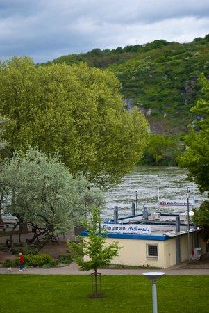 Hotel Meder: die Residenz am Rhein: View from window- Hotel Meder
