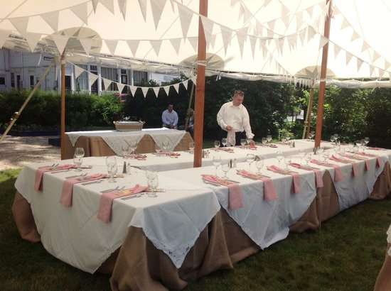 The Parker House Inn and Restaurant: Tented Event in the Kitchen Garden