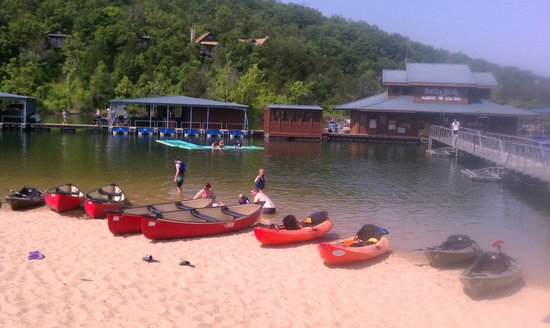"""The Wilderness Club at Big Cedar: The new """"beach"""" on the lake."""