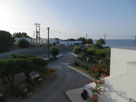 Tselios Apartments: Blick vom Balkon