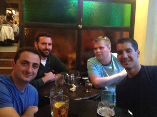 The Old Triangle Irish Ale House: Bashir, Dave, Kevin and Matt.