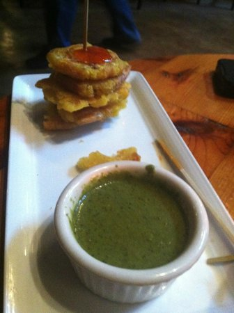 Darwin's on 4th: Tostones - great sauces on this plate!