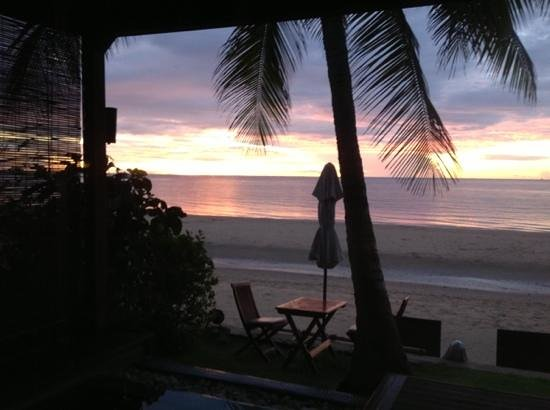 Aleenta Resort Pranburi: Sunrise view from our room