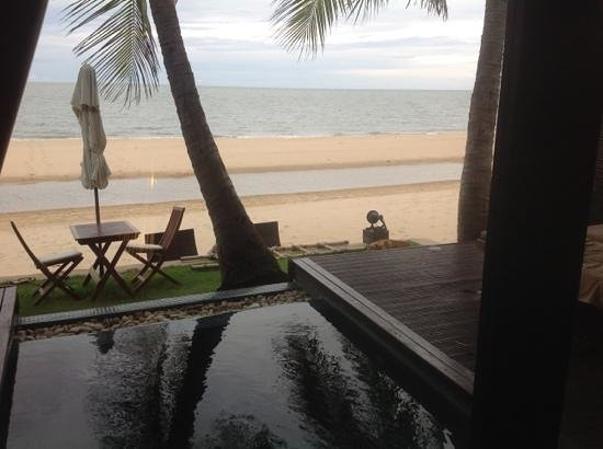Aleenta Resort Pranburi: View from Coconut Palm Pool Suite, fabulous location