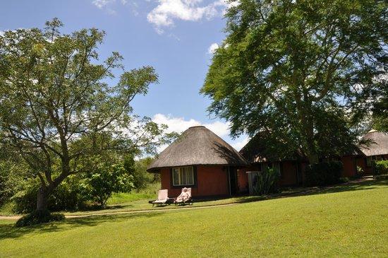 Mohlabetsi Safari Lodge: Unser Chalet von außen