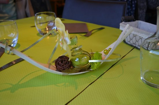 Fred' Au: My wife liked this table setting decoration