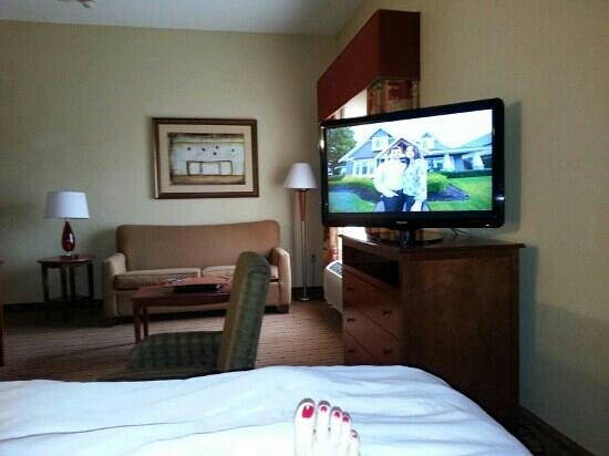 Hampton Inn and Suites Arcata, CA: Large King Suite with flat screen