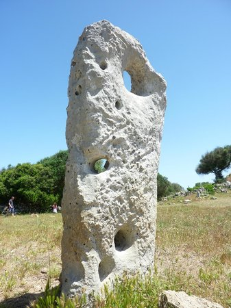 Talati de Dalt: Standing stone believed to have been part of a house.