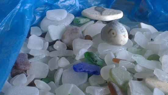 Wayland's Forge Silversmiths: Sea glass I found