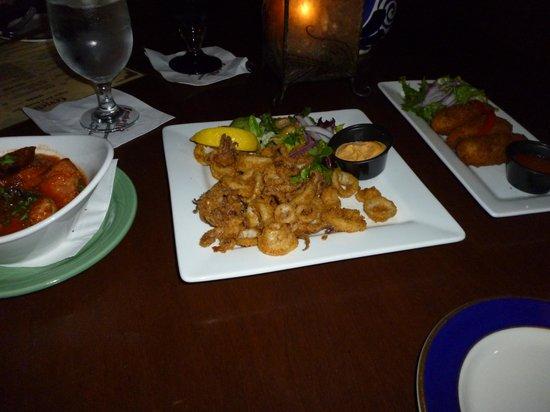 Ceviche Tapas Bar and Restaurant: calamari + Croquetas